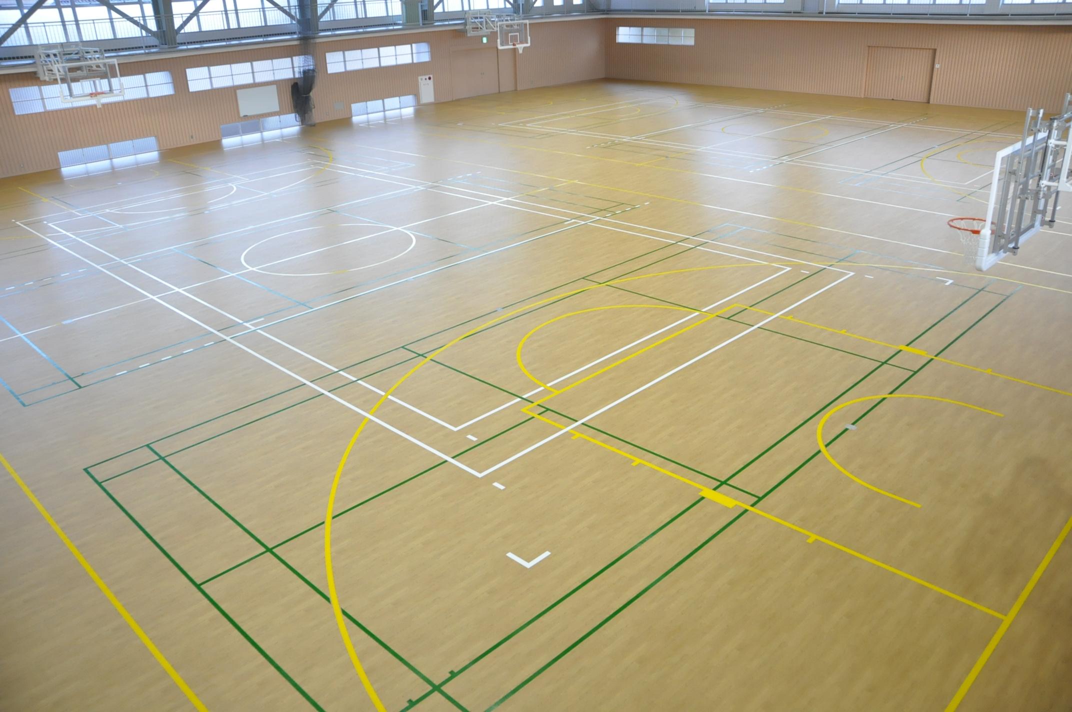 Iwanai gymnasium is renewal   Nomi-shi