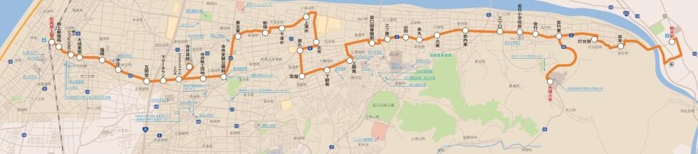 早晨和晚上、北循環路線圖
